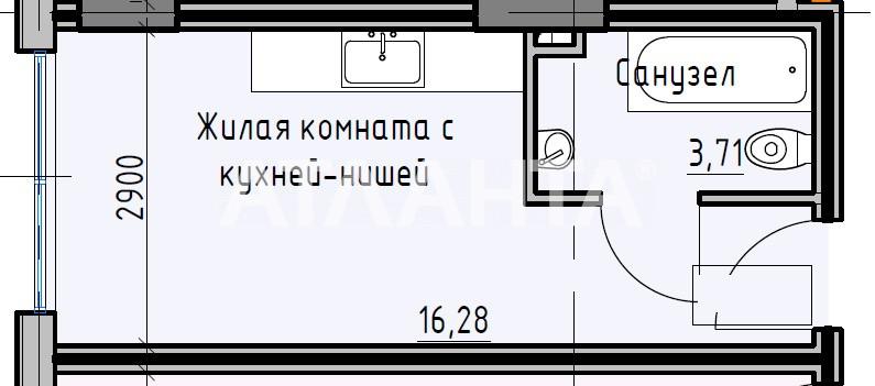 Продается 1-комнатная Квартира на ул. Раскидайловская (Станиславского) — 16 990 у.е. (фото №2)