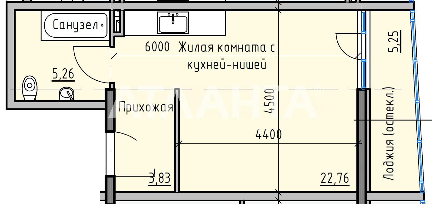 Продается 1-комнатная Квартира на ул. Раскидайловская (Станиславского) — 26 340 у.е. (фото №3)