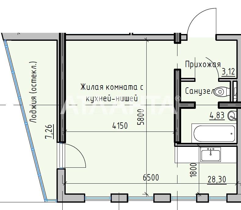 Продается 1-комнатная Квартира на ул. Раскидайловская (Станиславского) — 30 020 у.е.