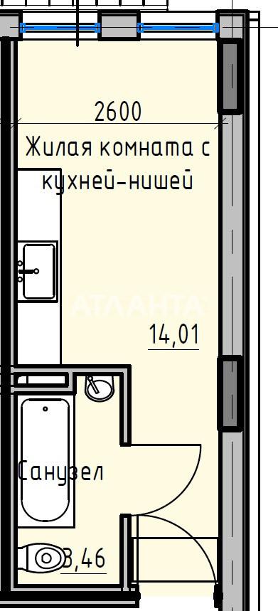 Продается 1-комнатная Квартира на ул. Раскидайловская (Станиславского) — 14 330 у.е. (фото №3)