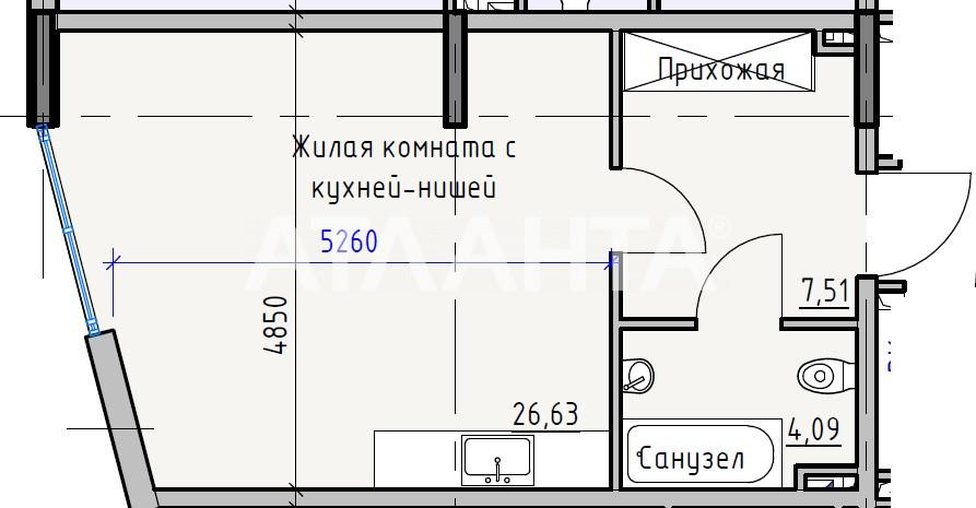 Продается 1-комнатная Квартира на ул. Раскидайловская (Станиславского) — 27 140 у.е. (фото №4)