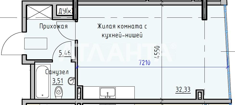 Продается 1-комнатная Квартира на ул. Раскидайловская (Станиславского) — 29 320 у.е. (фото №2)