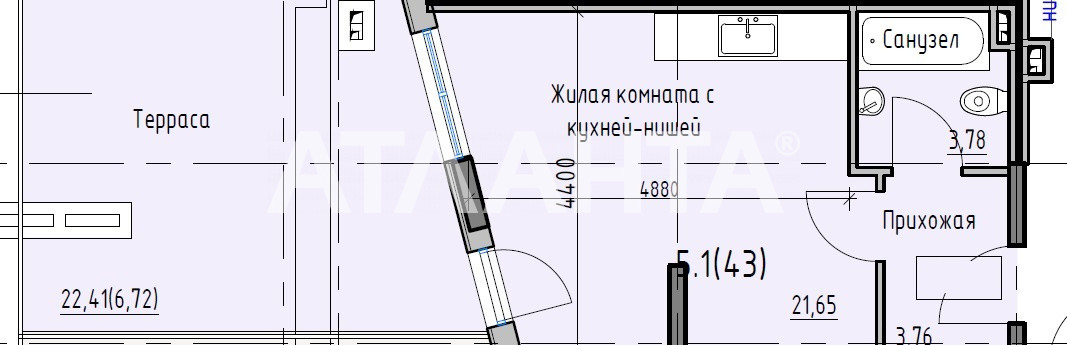 Продается 1-комнатная Квартира на ул. Раскидайловская (Станиславского) — 25 500 у.е.