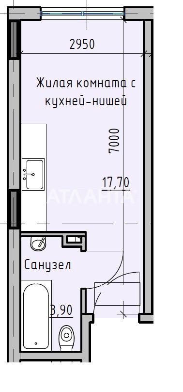 Продается 1-комнатная Квартира на ул. Раскидайловская (Станиславского) — 39 480 у.е. (фото №3)