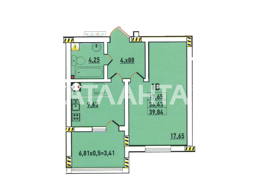 Продается 1-комнатная Квартира на ул. Радужный М-Н — 27 000 у.е. (фото №3)