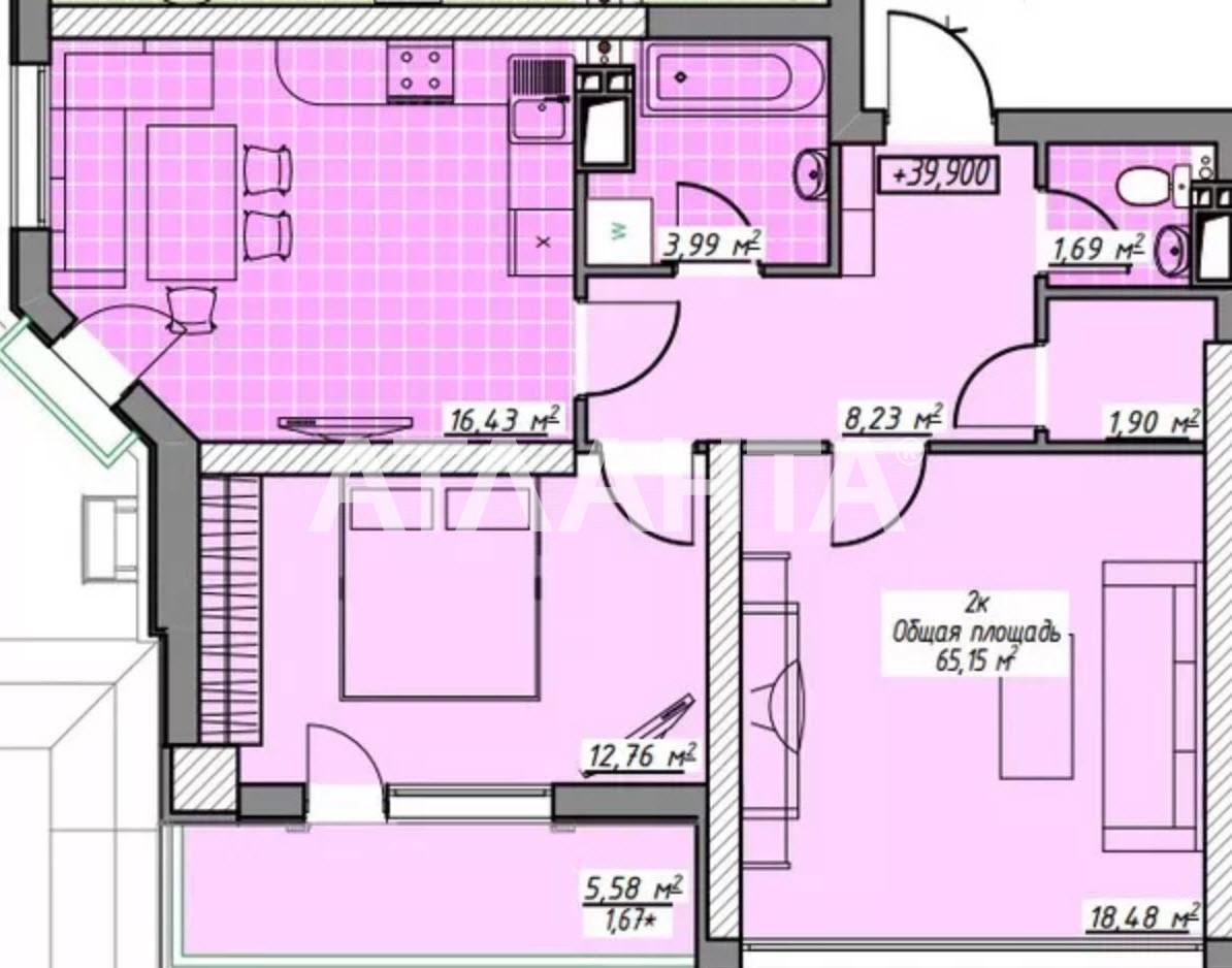Продается 2-комнатная Квартира на ул. Генуэзская — 59 000 у.е. (фото №2)