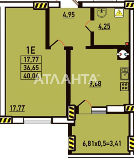 Продается 1-комнатная Квартира на ул. Радужный М-Н — 28 000 у.е. (фото №3)