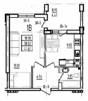 Продается 1-комнатная Квартира на ул. Радужный М-Н — 28 500 у.е. (фото №4)