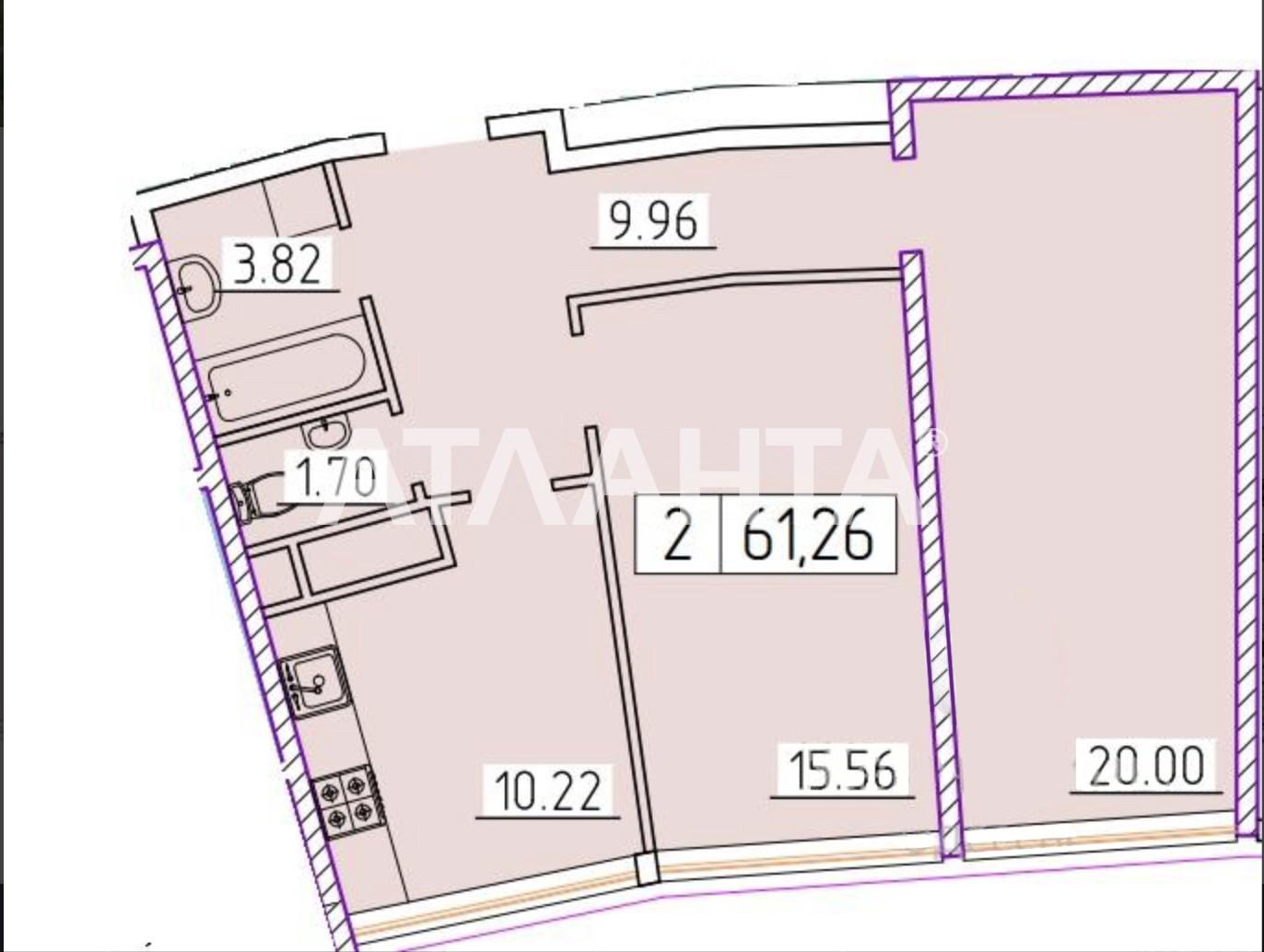 Продается 2-комнатная Квартира на ул. Генуэзская — 68 000 у.е. (фото №3)