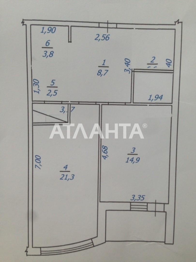 Продается 2-комнатная Квартира на ул. Гагаринское Плато — 95 000 у.е. (фото №3)