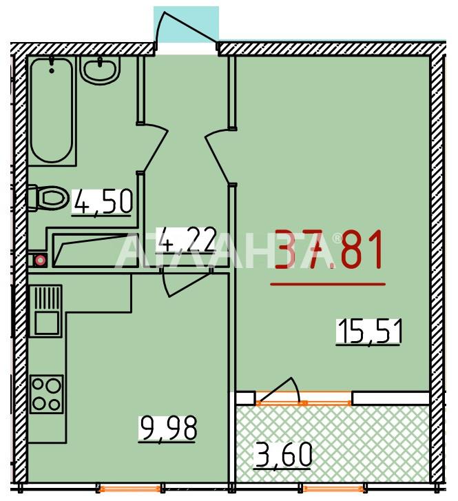 Продается 1-комнатная Квартира на ул. Бассейная — 29 164 у.е. (фото №5)