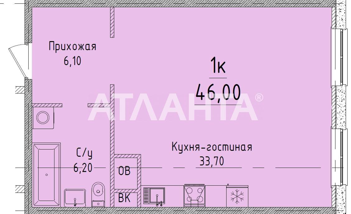 Продается 1-комнатная Квартира на ул. Гагаринское Плато — 47 430 у.е.
