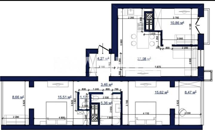 Продается 3-комнатная Квартира на ул. Чехова — 58 000 у.е.