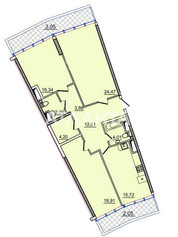 Продается 3-комнатная Квартира на ул. Генуэзская — 114 000 у.е. (фото №4)