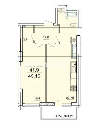 Продается 1-комнатная Квартира на ул. Педагогическая — 49 800 у.е. (фото №3)