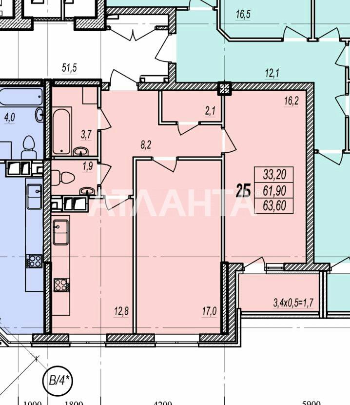 Продается 2-комнатная Квартира на ул. Люстдорфская Дор. (Черноморская Дор.) — 48 300 у.е. (фото №2)