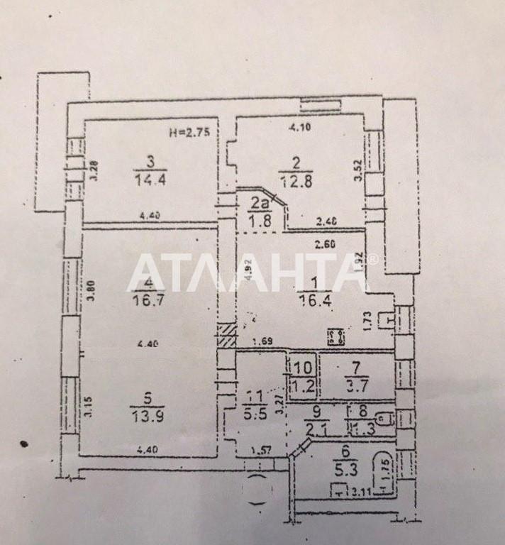 Продается 3-комнатная Квартира на ул. Французский Бул. (Пролетарский Бул.) — 98 000 у.е. (фото №10)