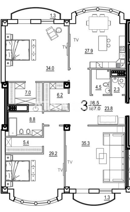 Продается 3-комнатная Квартира на ул. Французский Бул. (Пролетарский Бул.) — 523 600 у.е.