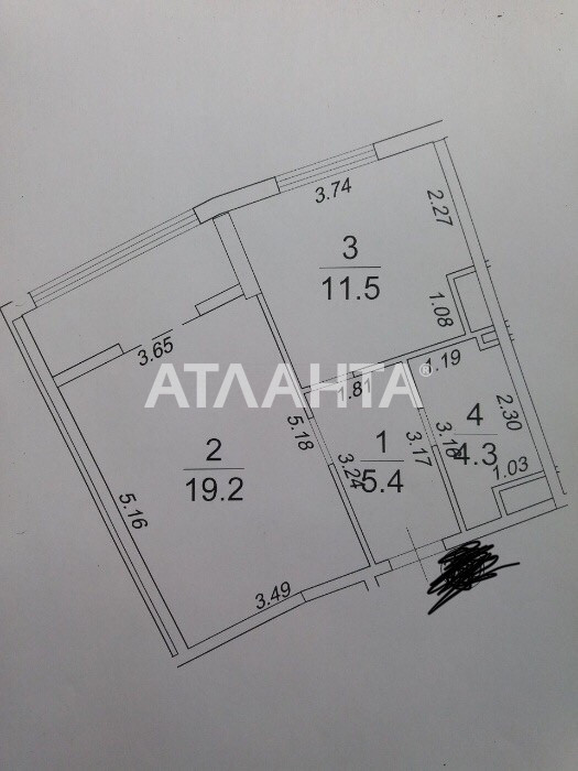 Продается 1-комнатная Квартира на ул. Генуэзская — 45 500 у.е. (фото №2)