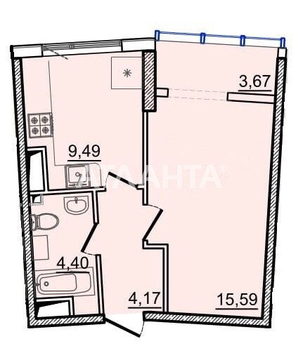 Продается 1-комнатная Квартира на ул. Генуэзская — 40 500 у.е. (фото №4)