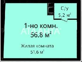 Продается 1-комнатная Квартира на ул. Новобереговая — 62 500 у.е. (фото №8)