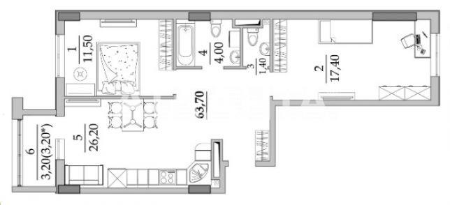 Продается 2-комнатная Квартира на ул. Вильямса Ак. — 32 500 у.е. (фото №2)