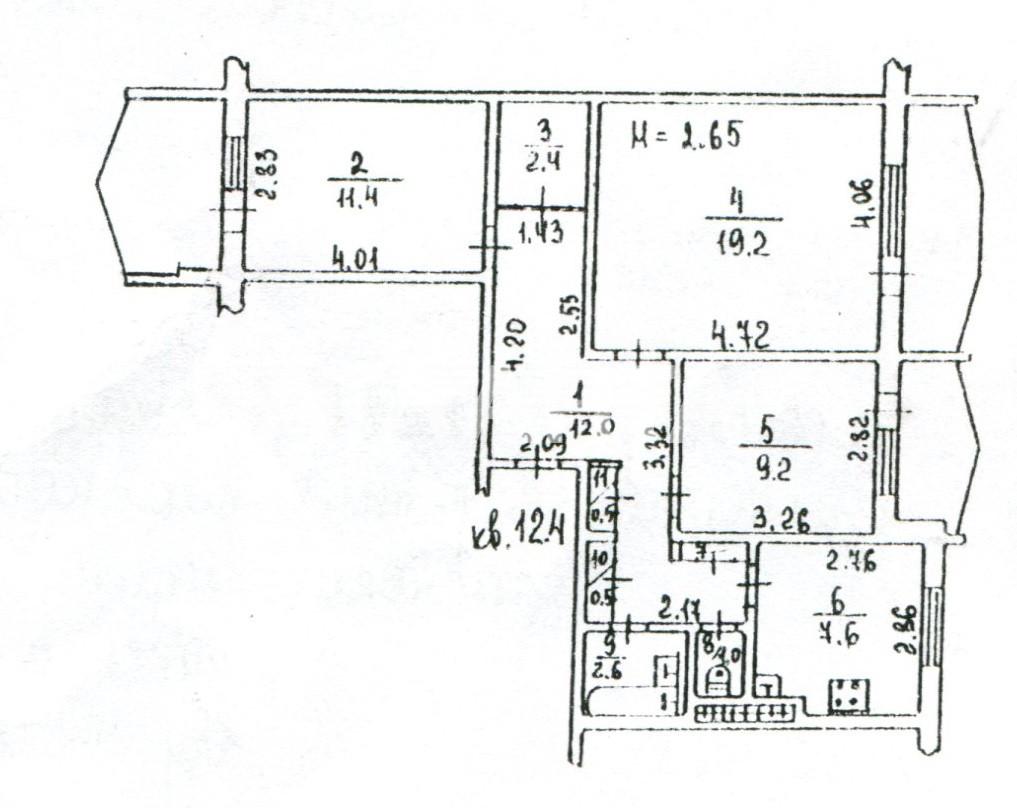 Продается 3-комнатная Квартира на ул. Добровольского Пр. — 38 500 у.е. (фото №11)