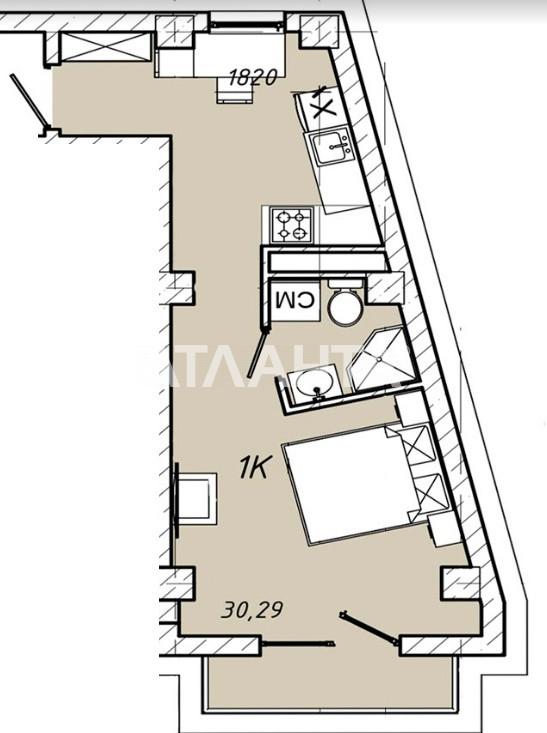 Продается 1-комнатная Квартира на ул. Колонтаевская (Дзержинского) — 27 261 у.е. (фото №4)