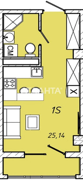 Продается 1-комнатная Квартира на ул. Колонтаевская (Дзержинского) — 25 140 у.е. (фото №4)