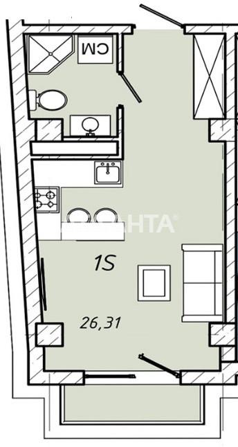 Продается 1-комнатная Квартира на ул. Колонтаевская (Дзержинского) — 26 310 у.е.