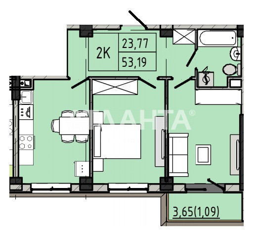 Продается 2-комнатная Квартира на ул. Люстдорфская Дор. (Черноморская Дор.) — 42 550 у.е. (фото №3)