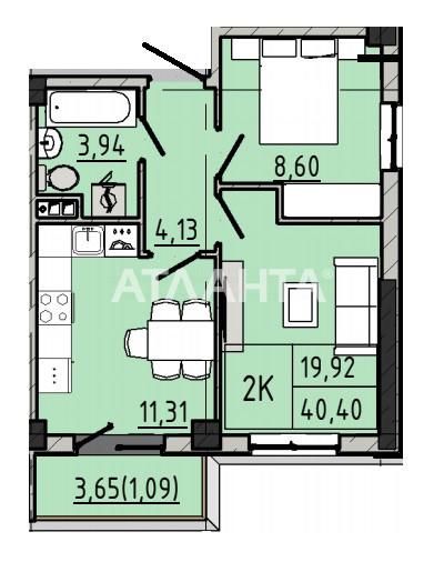 Продается 2-комнатная Квартира на ул. Люстдорфская Дор. (Черноморская Дор.) — 29 088 у.е. (фото №3)