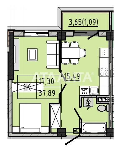 Продается 1-комнатная Квартира на ул. Люстдорфская Дор. (Черноморская Дор.) — 30 310 у.е. (фото №3)