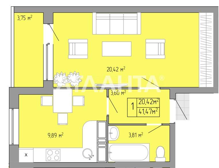 Продается 1-комнатная Квартира на ул. Пишоновская — 25 710 у.е.