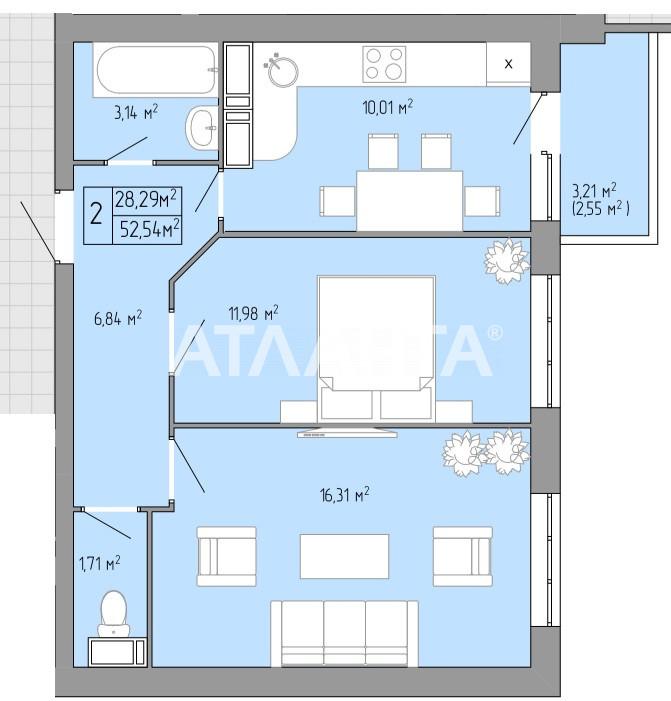 Продается 2-комнатная Квартира на ул. Пишоновская — 31 520 у.е.