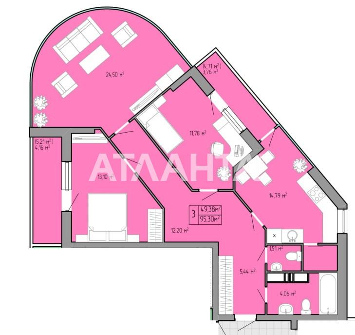 Продается 3-комнатная Квартира на ул. Пишоновская — 66 710 у.е. (фото №2)