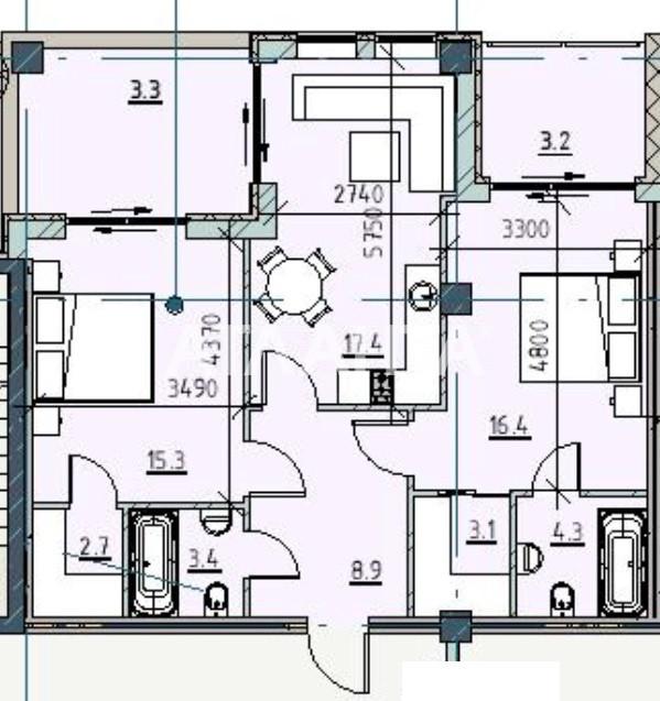 Продается 2-комнатная Квартира на ул. Каманина — 99 590 у.е. (фото №2)
