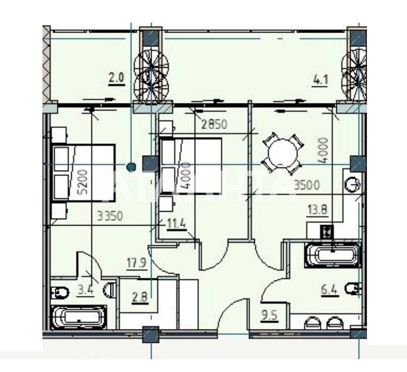 Продается 2-комнатная Квартира на ул. Каманина — 91 070 у.е. (фото №2)