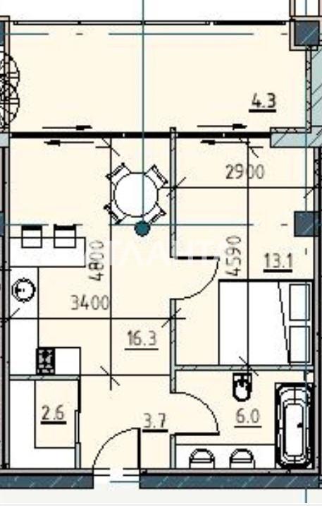Продается 1-комнатная Квартира на ул. Каманина — 61 830 у.е.