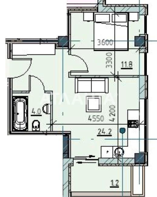 Продается 1-комнатная Квартира на ул. Каманина — 57 270 у.е.