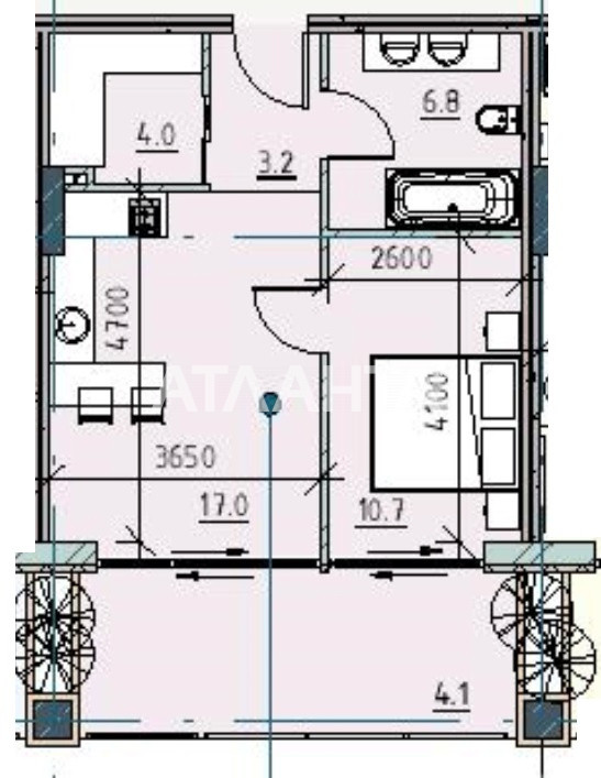 Продается 1-комнатная Квартира на ул. Каманина — 64 360 у.е.