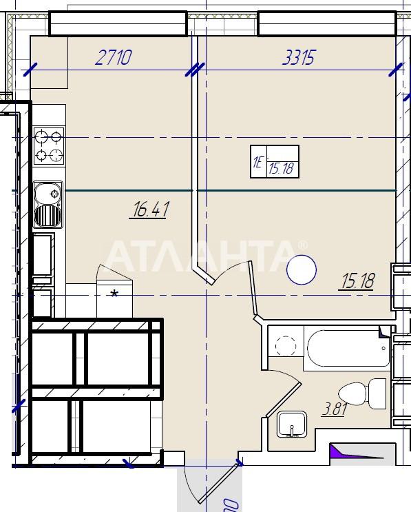 Продается 1-комнатная Квартира на ул. Филатова Ак. — 29 260 у.е. (фото №2)