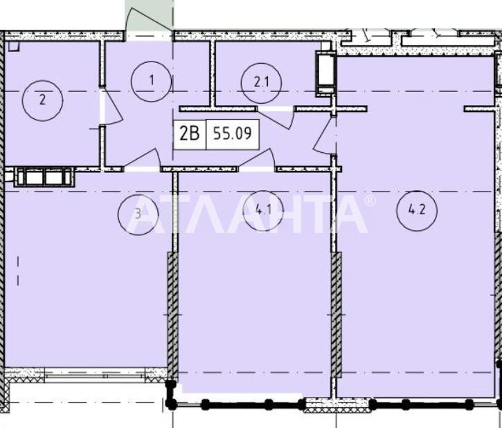 Продается 2-комнатная Квартира на ул. Филатова Ак. — 38 770 у.е. (фото №2)