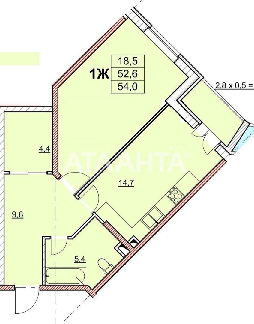 Продается 1-комнатная Квартира на ул. Гагаринское Плато — 49 500 у.е. (фото №2)