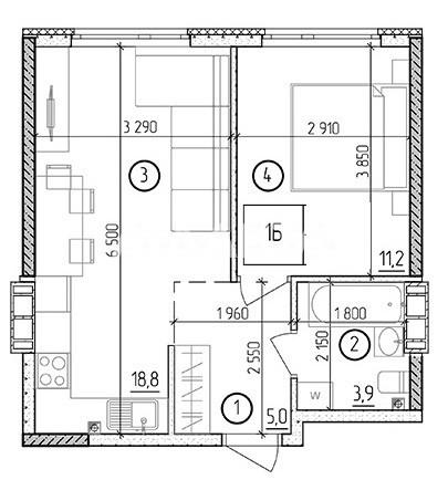 Продается 1-комнатная Квартира на ул. Филатова Ак. — 30 520 у.е. (фото №2)