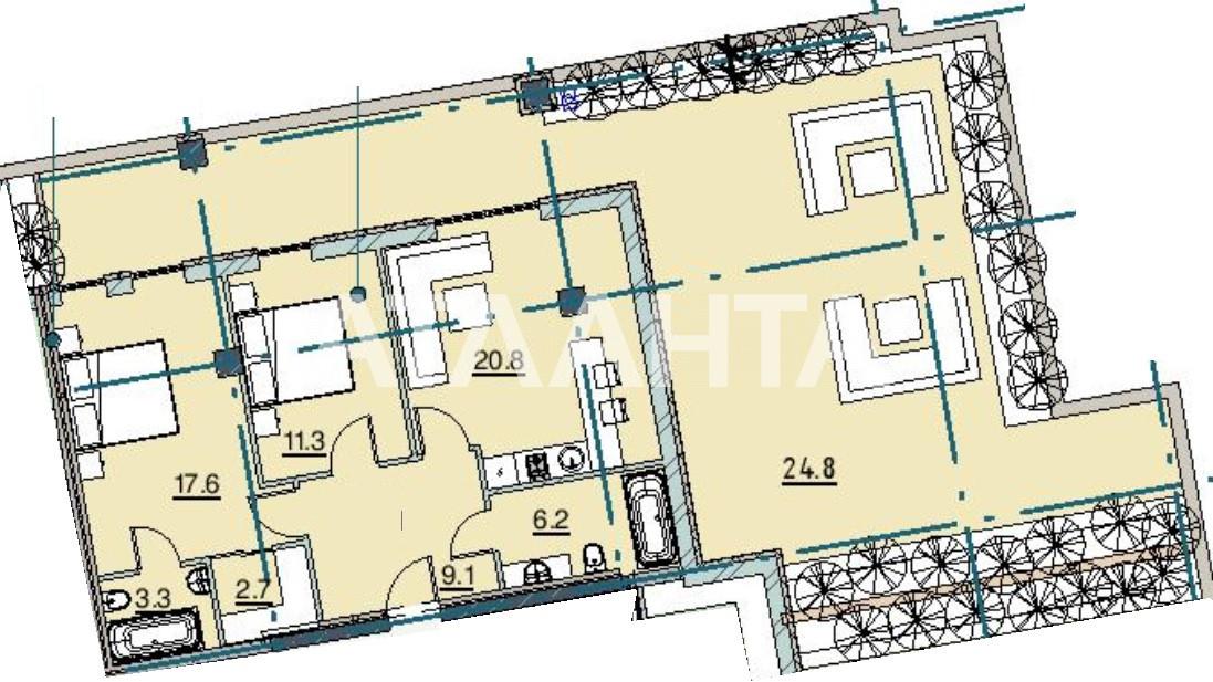 Продается 2-комнатная Квартира на ул. Каманина — 148 490 у.е.