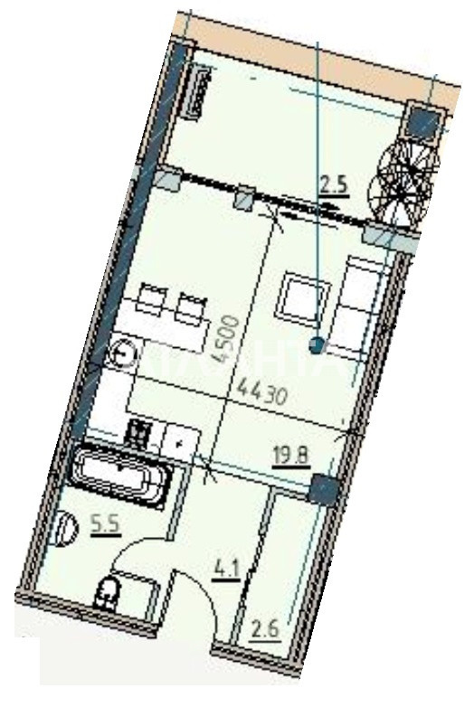 Продается 1-комнатная Квартира на ул. Каманина — 50 960 у.е.