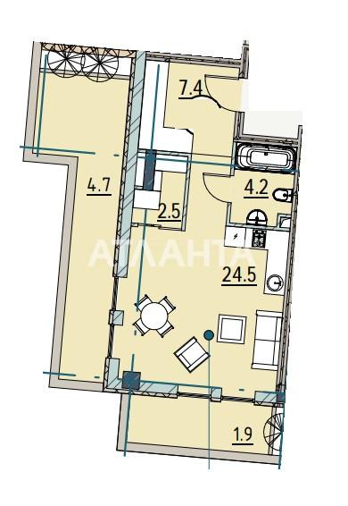 Продается 1-комнатная Квартира на ул. Каманина — 67 350 у.е. (фото №2)