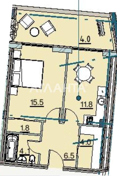Продается 1-комнатная Квартира на ул. Каманина — 58 300 у.е. (фото №2)