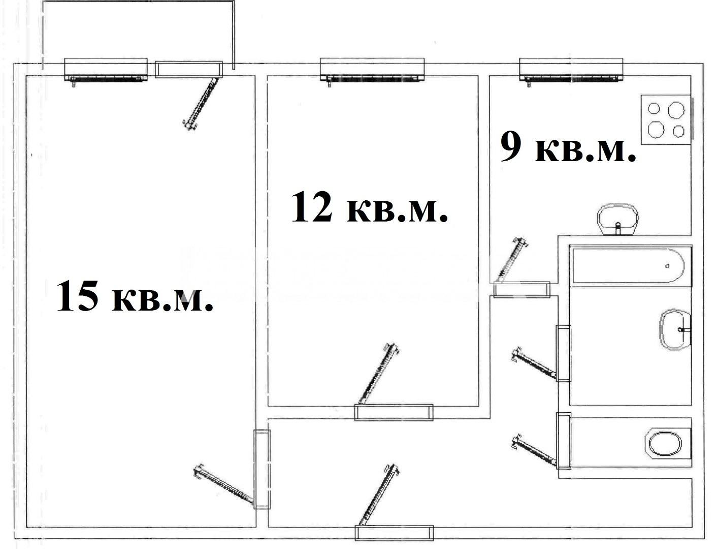 Продается 2-комнатная Квартира на ул. Грушевского Михаила (Братьев Ачкановых) — 34 000 у.е. (фото №2)